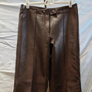 Fendi black leather pants